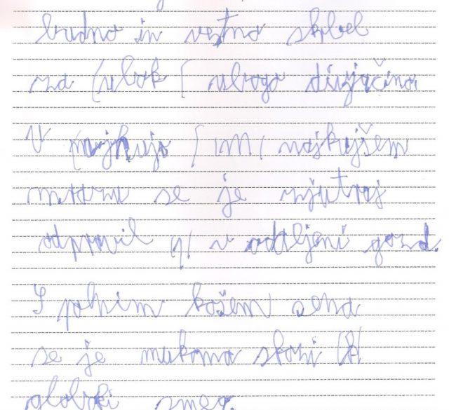 disgrafija, neberljiva pisava, pisava disgrafija, motnje pisanja.
