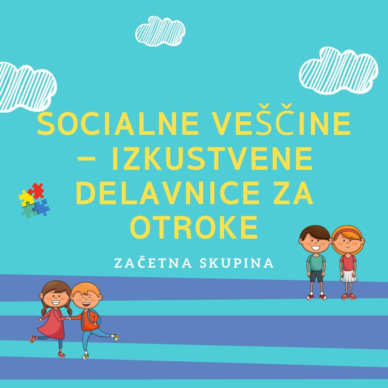 Socialne veščine za otroke - izkustvene delavnice